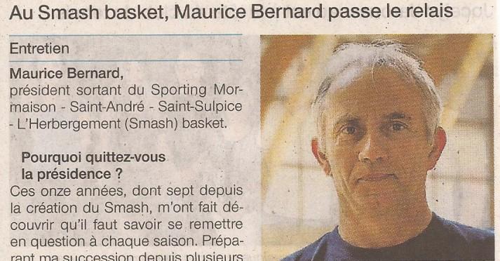 Maurice Bernard passe le relais 1