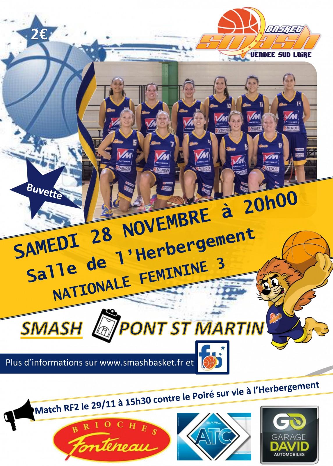 affiche match nf3 Pont St Martin 1